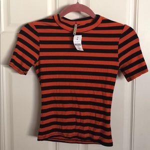 LF Emma & Sam spooky stripped T-shirt